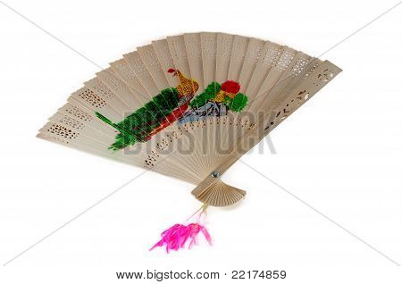 A Chinese Style Wooden Fan