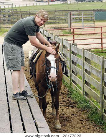 City Man Handling Horse