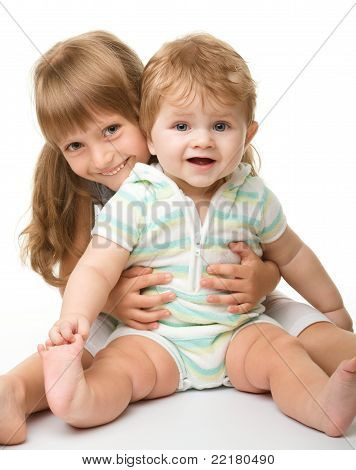 Two Children Are Having Fun