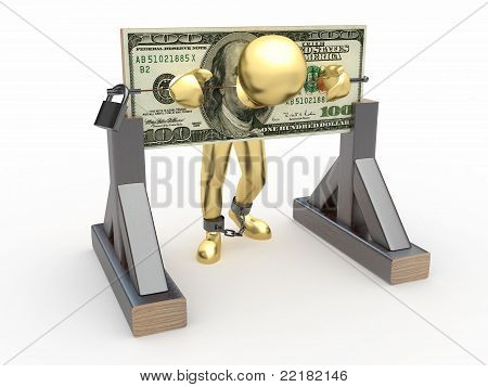 Man Being Held Hostage By Money