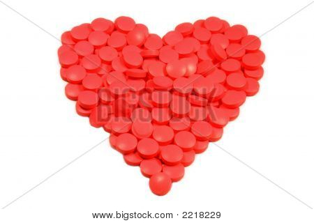 Tablets In Heart Shape