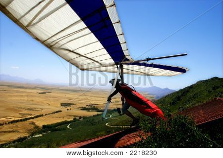 Hangglider Take-Off