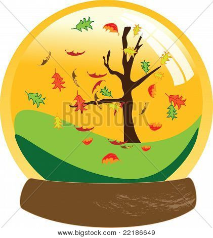 Fall Autumn Snow Globe