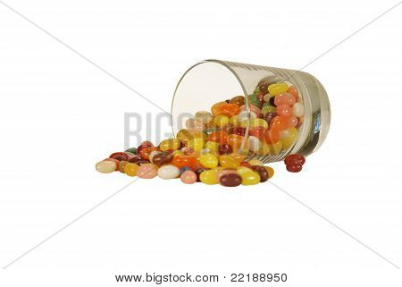 Glass Of Spilled Jellybeans