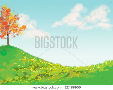 Digital Autumn Landscape
