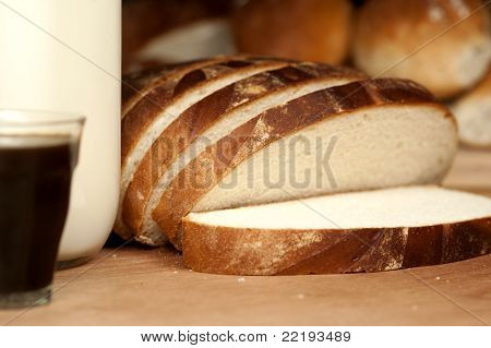 Country Bread Milk & Black Coffee
