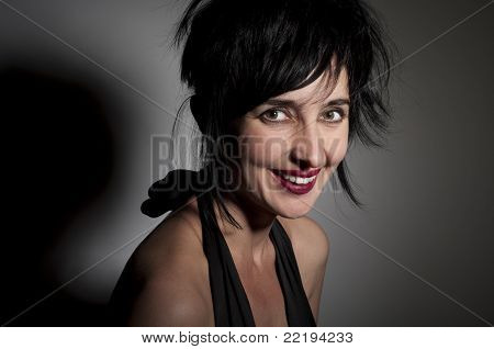 Evil Looking Laughing Woman