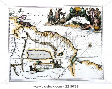 1671 Map Of Guina By Ogilby/Montanus
