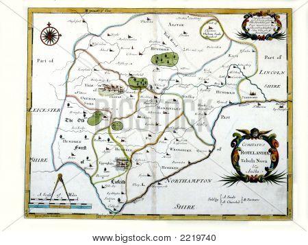 1695 Morden Map Of Rutland