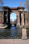 Ancient Architectural Arch In St.-Petersburg In Russia. poster