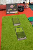 Indoor Mini Golf And Holes For Practicing Inside Building poster