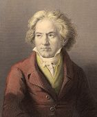 Ludwig van Beethoven (1770-1827). Engraved by W.Holl and published in The Gallery Of Portraits With