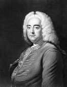 Handel (1685-1759). Engraved by J.Thomson and published in The Gallery Of Portraits With Memoirs enc