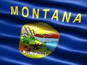 Постер, плакат: Флаг штата Монтана