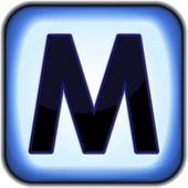 foto of letter m  - Shiny blue button with capital letter m - JPG