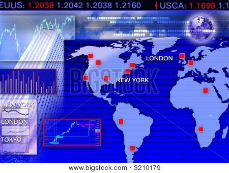 Currency Exchange Market Scene