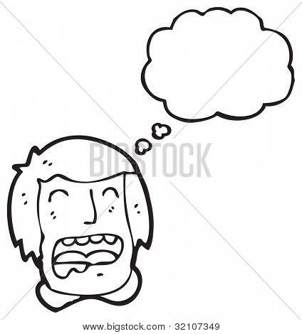 drooling man's face cartoon
