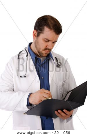 Young Doctor Writing Notes