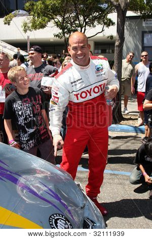 LOS ANGELES, CA - APR 16: Tito Ortiz at the Toyota Grand Prix Pro Celeb Race at Toyota Grand Prix Track on April 16, 2011 in Long Beach, California