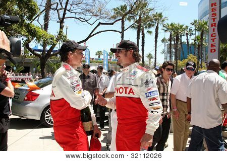 LOS ANGELES, CA - APR 16: William Fitchner, Kim Coates at the Toyota Grand Prix Pro Celeb Race at Toyota Grand Prix Track on April 16, 2011 in Long Beach, California