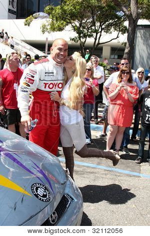 LOS ANGELES, CA - APR 16: Tito Ortiz, Jenna Jameson at the Toyota Grand Prix Pro Celeb Race at Toyota Grand Prix Track on April 16, 2011 in Long Beach, California