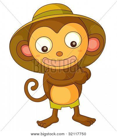 Illustration of a safari monkey