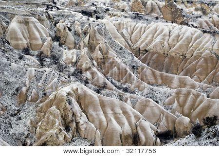 Sandstone Formations, Cappadocia, Turkey.