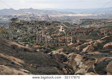 ?ave Town In Cappadocia, Turkey.