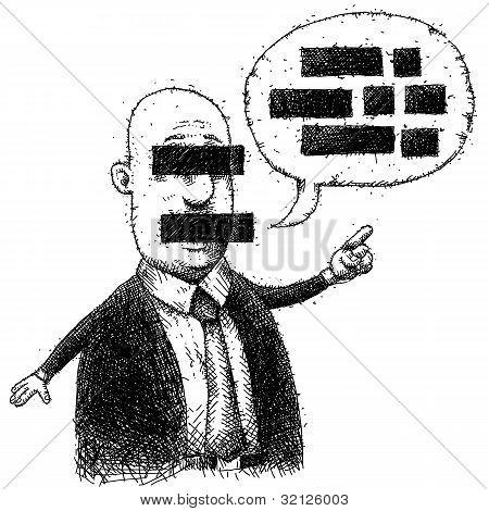 Censored Man