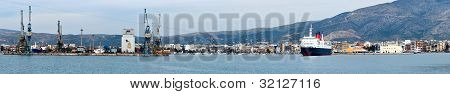 Volos Harbor, Panoranic View