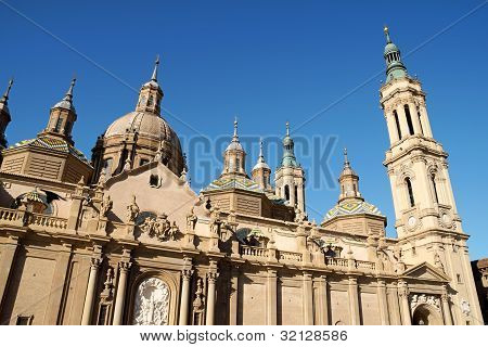 Our Lady Of The Pillar Basilica-cathedral In Zaragoza