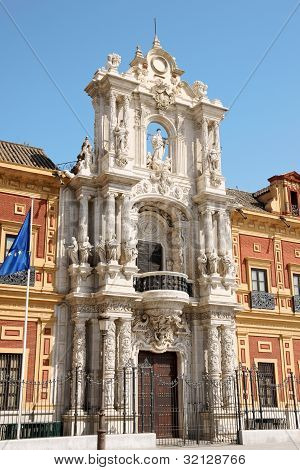 Palace Of San Telmo In Seville