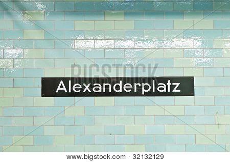 Alexanderplatz U-bahn Station At Berlin, Germany