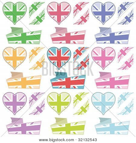 Uk Hearts And Ribbons
