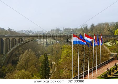 Adolphe Bridge At Luxembourg City