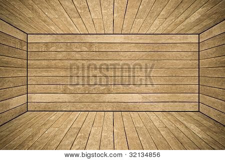 Grunge Old Wood Texture Room Background