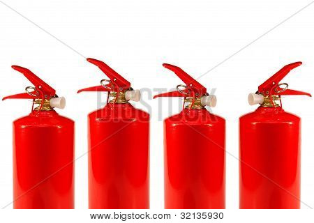 Four Fire Extinguishers
