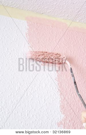 Painting A Wall In Pink