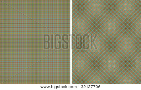 Brown Green Blue & Pink Plaid Paper Set