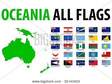 Oceania All Flags