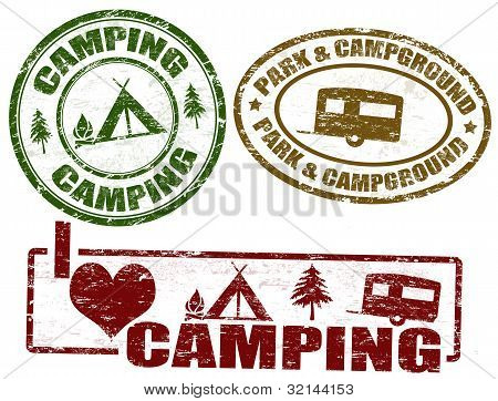 Camping Stamps
