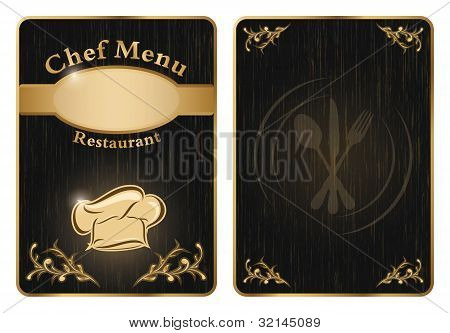 Chef Menu Cover Or Board - Vector 2