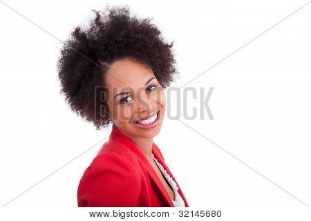 Closeup Portrait Of A Beautiful African American Woman