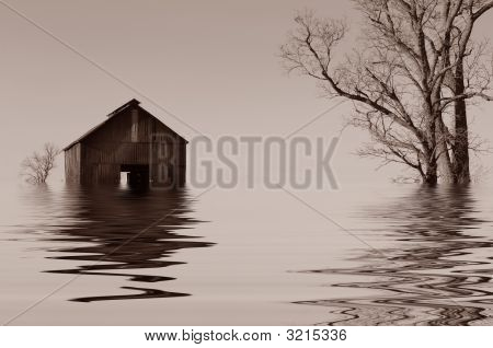 Flooded Iowa Farmhouse