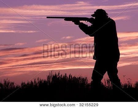 Hunter in Sunset