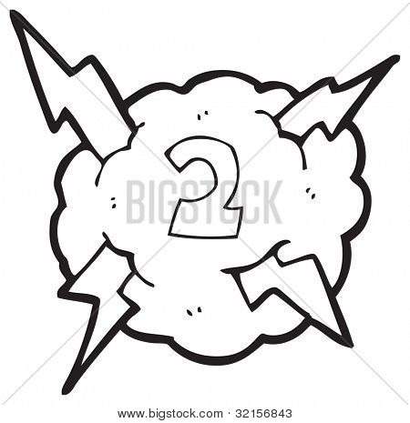 cartoon thundercloud number two