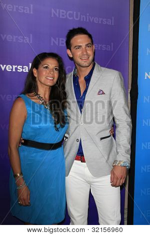 PASADENA - APR 18: Dina Eastwood, Emile Welman at the NBCUniversal summer press day held at The Langham Huntington Hotel and Spa on April 18, 2012 in Pasadena, California