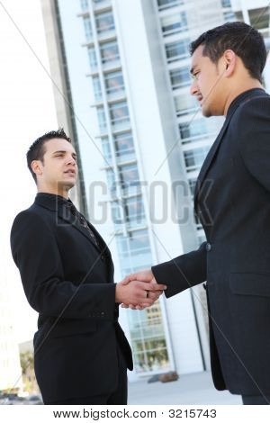 Business Man Team Shaking Hands