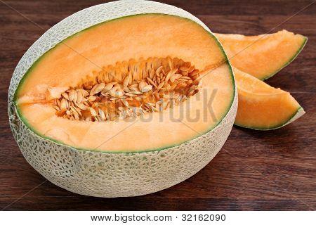 Fresh Cantaloupe Or Muskmelon
