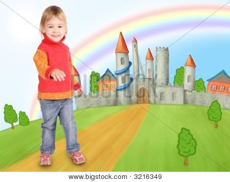 Llittle Girl And Castle